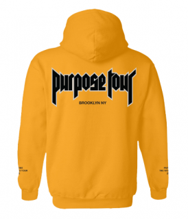 Purpose Tour Brooklyn Hoodie《Gold》