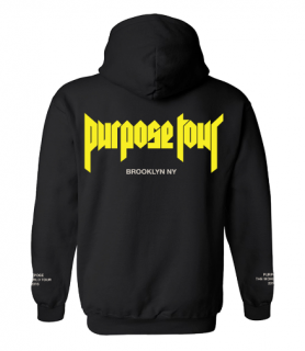 Purpose Tour Brooklyn Hoodie《Black》