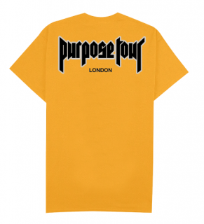 Purpose Tour London T-Shirt《Gold》