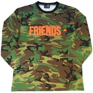 <img class='new_mark_img1' src='//img.shop-pro.jp/img/new/icons1.gif' style='border:none;display:inline;margin:0px;padding:0px;width:auto;' />FRIENDS Green Camo Sweater Long Sleeve《Green Camo》