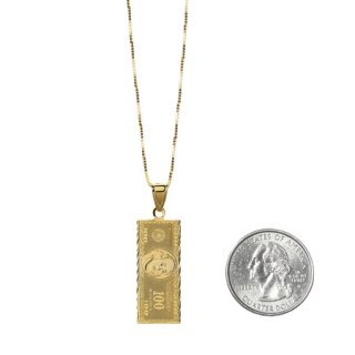 100 Dollar Bill Gold Pendant《Gold》
