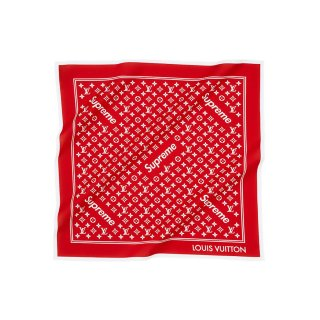 Supreme×Louis Vuitton Monogram Bandana《Red》