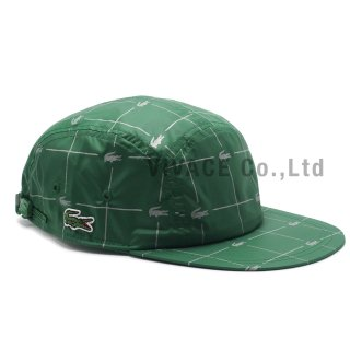 Supreme?/LACOSTE Reflective Grid Nylon Camp Cap