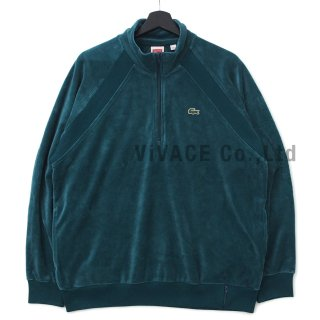 Supreme?/LACOSTE Velour Half-Zip Track Top