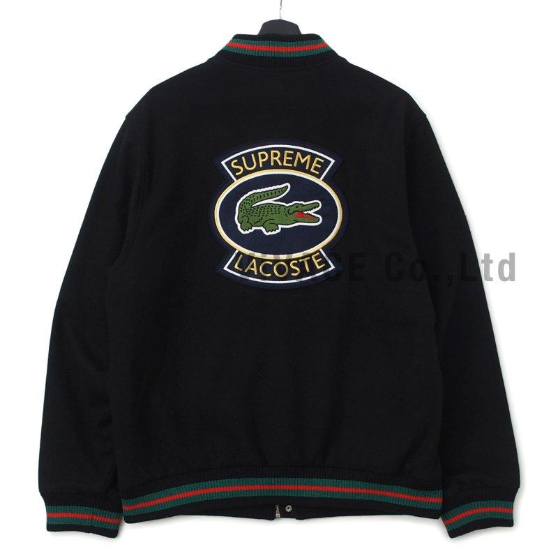 Supreme Lacoste Wool Varsity Jacket Designer Brands Select Shop