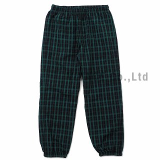 Nylon Plaid Track Pant