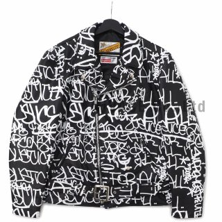 Supreme?/Comme des Gar?ons SHIRT? Schott? Painted Perfecto Leather Jacket