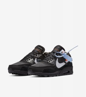OFF-WHITE THE TEN  AIR MAX 90 BLACK《Black/Cone/Black/White》