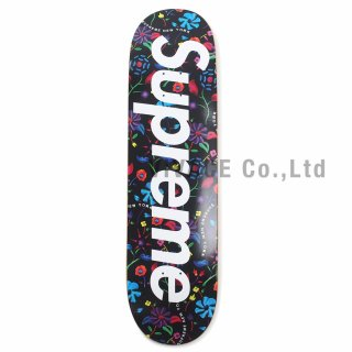 Airbrushed Floral Skateboard