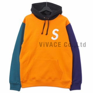 S Logo Colorblocked Hooded Sweatshirt