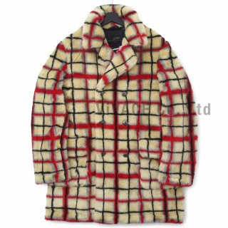 Supreme?/Jean Paul Gaultier? Double Breasted Plaid Faux Fur Coat