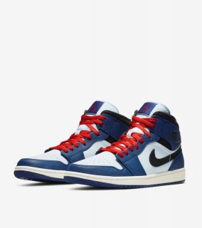 AIR JORDAN 1 MID NAVY《Navy/White/Red》