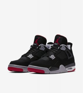 AIR JORDAN 4 RETRO OG BRED《Black/Cement Grey-Summit White-Fire Red》