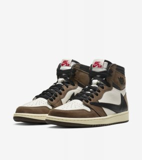 AIR JORDAN 1 HIGH OG TRAVIS SCOTT《Sail/Dark Mocha-University/Red-Black》