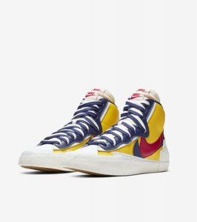 sacai BLAZER MID《Varsity Maize/Midnight Navy/White/Varsity Red 》