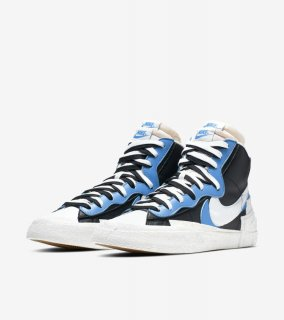 sacai BLAZER MID《Black/University Blue-Sail-White》