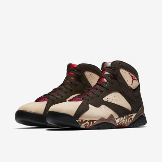 PATTA AIR JORDAN 7 OG SP《Shimmer/Tough Red-Velvet Brown-Mahogany Pink》