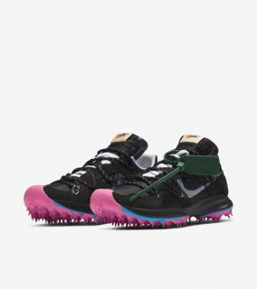OFF-WHITE AIR ZOOM TERRA KIGER 5《Black/Metallic Silver-White-Pink Blast》