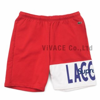 LACOSTE Logo Panel Sweatshort