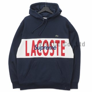 LACOSTE Logo Panel Hooded Sweatshirt