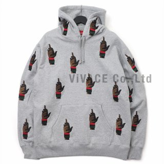 Supreme/dead prez RBG Embroidered Hooded Sweatshirt