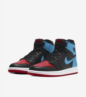 WMNS AIR JORDAN 1 UNC TO CHICAGO《Black/Dark Powder Blue-Gym Red》