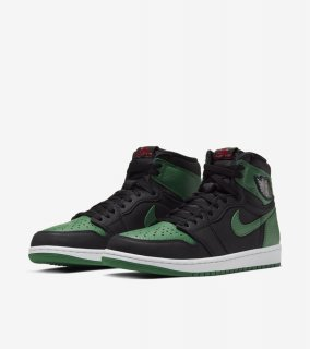 AIR JORDAN 1 RETRO HIGH OG PINE GREEN《Black/White-Pine Green-Gym Red》