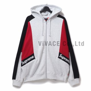 Color Blocked Zip Up Hooded Sweatshirt