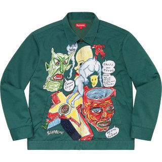 Supreme/Daniel Johnston Embroidered Work Jacket