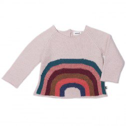 <img class='new_mark_img1' src='//img.shop-pro.jp/img/new/icons20.gif' style='border:none;display:inline;margin:0px;padding:0px;width:auto;' /> oeuf   Rainbow Sweater     light pink  50%off  4y  last one!