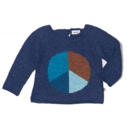 <img class='new_mark_img1' src='//img.shop-pro.jp/img/new/icons20.gif' style='border:none;display:inline;margin:0px;padding:0px;width:auto;' /> oeuf   Peace sign Sweater      indigo  50%off  4y  last one!