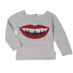 <img class='new_mark_img1' src='//img.shop-pro.jp/img/new/icons20.gif' style='border:none;display:inline;margin:0px;padding:0px;width:auto;' />2016 AW oeuf   Mouth Sweater Gold tooth      light grey  50%off