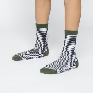 <img class='new_mark_img1' src='//img.shop-pro.jp/img/new/icons20.gif' style='border:none;display:inline;margin:0px;padding:0px;width:auto;' />MINGO   Socks   / Striped  duck green30%off