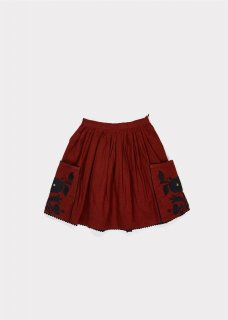 <img class='new_mark_img1' src='https://img.shop-pro.jp/img/new/icons20.gif' style='border:none;display:inline;margin:0px;padding:0px;width:auto;' />CARAMEL  COW ENBROIDERED SKIRT  /  burnt ochre 50%off   4y   Last one!