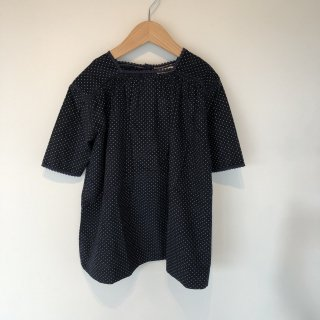 <img class='new_mark_img1' src='https://img.shop-pro.jp/img/new/icons20.gif' style='border:none;display:inline;margin:0px;padding:0px;width:auto;' />CARAMEL  PONY DRESS  /  navy baby cord dot  50%off  8y last one!