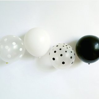 BALLOON  / black&white MIX. 10pcs