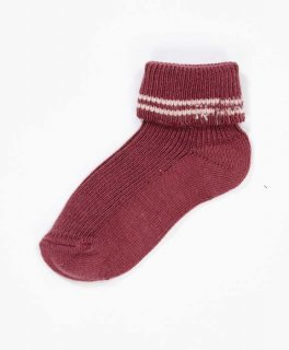 <img class='new_mark_img1' src='//img.shop-pro.jp/img/new/icons14.gif' style='border:none;display:inline;margin:0px;padding:0px;width:auto;' /> CARAMEL  RIB BABY ANKLE SOCKS  / plum  12m