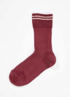 <img class='new_mark_img1' src='//img.shop-pro.jp/img/new/icons14.gif' style='border:none;display:inline;margin:0px;padding:0px;width:auto;' /> CARAMEL  RIB  ANKLE SOCKS  / plum