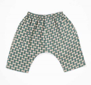 <img class='new_mark_img1' src='//img.shop-pro.jp/img/new/icons14.gif' style='border:none;display:inline;margin:0px;padding:0px;width:auto;' /> CARAMEL  MAGNOLIA BABY TROUSER LIGHT POPLIN  / emerald geo print  12m.18m.2y