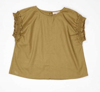 <img class='new_mark_img1' src='//img.shop-pro.jp/img/new/icons14.gif' style='border:none;display:inline;margin:0px;padding:0px;width:auto;' /> CARAMEL  LAVENDER TOP LIGHT POPLIN  / olive 4y.last one!