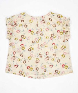 <img class='new_mark_img1' src='//img.shop-pro.jp/img/new/icons14.gif' style='border:none;display:inline;margin:0px;padding:0px;width:auto;' /> CARAMEL  LAVENDER TOP LIGHT POPLIN  / painted flower print cream  3y.4y.6y.8y