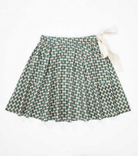 <img class='new_mark_img1' src='//img.shop-pro.jp/img/new/icons14.gif' style='border:none;display:inline;margin:0px;padding:0px;width:auto;' /> CARAMEL  IRIS SKIRT  LIGHT POPLIN  / emerald geo  8y last one!