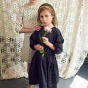 <img class='new_mark_img1' src='//img.shop-pro.jp/img/new/icons14.gif' style='border:none;display:inline;margin:0px;padding:0px;width:auto;' /> CARAMEL  CYCLAMEN  DRESS  / Black  3y.4y.6y.8y