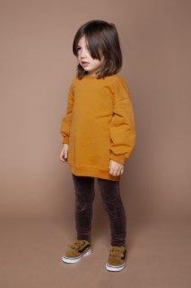 <img class='new_mark_img1' src='https://img.shop-pro.jp/img/new/icons20.gif' style='border:none;display:inline;margin:0px;padding:0px;width:auto;' />MINGO  Oversized sweater   /  leather brown. 6-8y last one!40%off