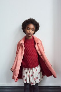 <img class='new_mark_img1' src='https://img.shop-pro.jp/img/new/icons20.gif' style='border:none;display:inline;margin:0px;padding:0px;width:auto;' />CARAMEL    ELPIS  Faux fur coat  / flamingo 3y last one! 40%off