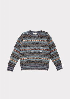<img class='new_mark_img1' src='//img.shop-pro.jp/img/new/icons14.gif' style='border:none;display:inline;margin:0px;padding:0px;width:auto;' />CARAMEL    Orion chunky fairisle jumper   / grey melange fairisle 3y 4y 6y