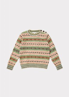 <img class='new_mark_img1' src='//img.shop-pro.jp/img/new/icons14.gif' style='border:none;display:inline;margin:0px;padding:0px;width:auto;' />CARAMEL    Orion chunky fairisle jumper   / multi fairisle 3y 4y 6y