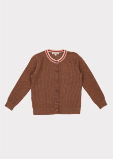 <img class='new_mark_img1' src='https://img.shop-pro.jp/img/new/icons20.gif' style='border:none;display:inline;margin:0px;padding:0px;width:auto;' />CARAMEL  CAMDEN CARDIGAN 3Y-6Y / BROWN  MELANGE.   40%off
