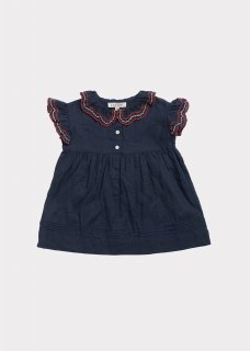 <img class='new_mark_img1' src='https://img.shop-pro.jp/img/new/icons20.gif' style='border:none;display:inline;margin:0px;padding:0px;width:auto;' />CARAMEL  SLOANE SQUARE BABY DRESS /  DARK NAVY. 40%off