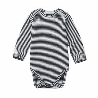 <img class='new_mark_img1' src='https://img.shop-pro.jp/img/new/icons14.gif' style='border:none;display:inline;margin:0px;padding:0px;width:auto;' />MINGO   Bodysuit /  stripes black white 6m-1y last one!